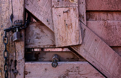 Weathered Gate With Lock And Chain Poster by Joe Kozlowski