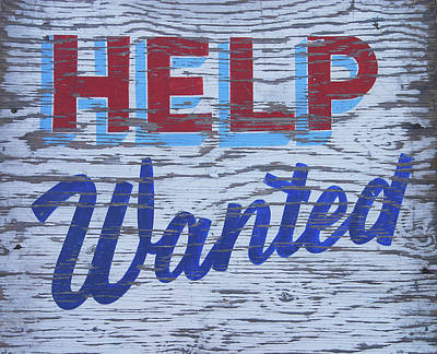 Weathered Help-wanted Sign Poster