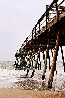Weathered Oceanic Pier  Poster