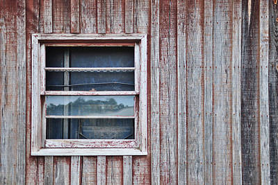 Weathered Window I I Poster by Paulette B Wright