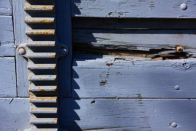 Weathered Wood And Metal Railing Poster by Stuart Litoff