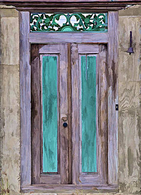 Weathered Wood Door Of The Caribbean  Poster
