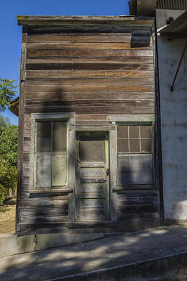Weathered Wooden Building Poster