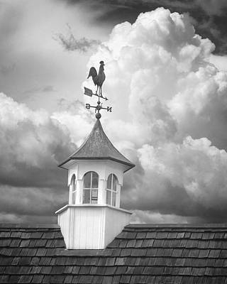 Weathervane And Clouds Poster