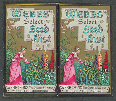 Webbs Select Seed List Poster by British Library