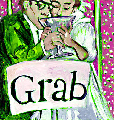 Wedding Couple Toast Poster by Tilly Strauss