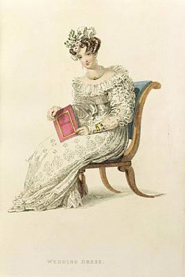 Wedding Dress, Fashion Plate Poster