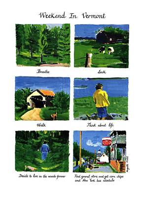 Weekend In Vermont Poster by Huguette Marte
