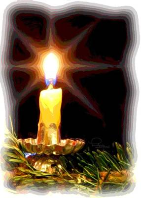 Poster featuring the photograph Weihnachtskerze - Christmas Candle by Ludwig Keck