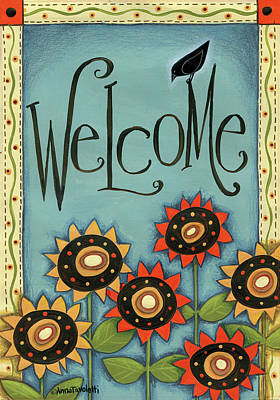 Welcome Crow Poster by Anne Tavoletti