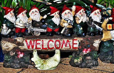 Welcome From The Seven Dwarfs Poster by Kaye Menner