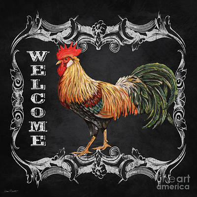 Welcome Rooster-jp2618 Poster by Jean Plout