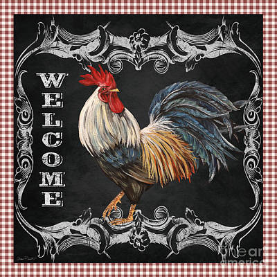 Welcome Rooster-jp2622 Poster by Jean Plout