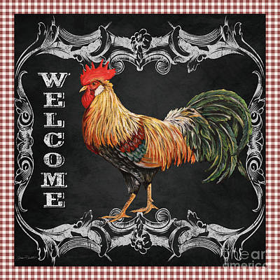 Welcome Rooster-jp2623 Poster by Jean Plout