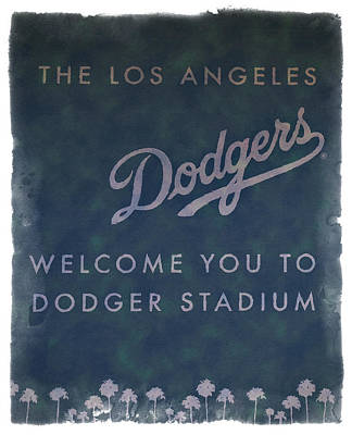 Welcome To Dodgers Stadium - Impressions Poster by Ricky Barnard