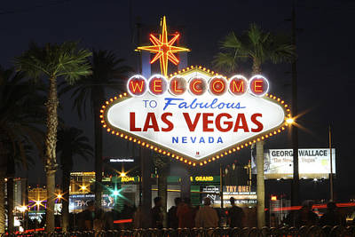 Welcome To Las Vegas Poster by Mike McGlothlen