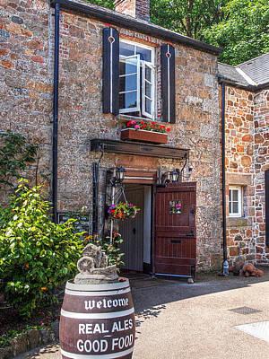 Welcome To Le Moulin De Lecq Inn Poster by Gill Billington