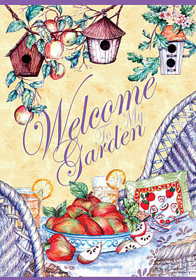 Welcome To My Garden Poster