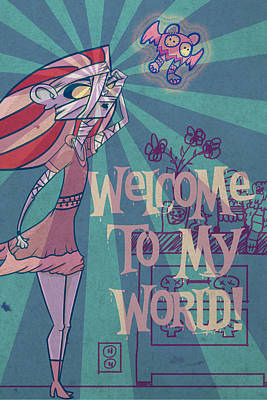Welcome To My World Poster by Joey Hernandez