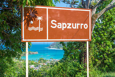 Welcome To Sapzurro Sign Poster by Jess Kraft
