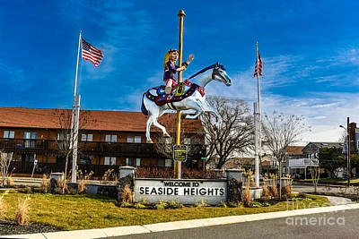 Welcome To Seaside Heights Poster by Gary Keesler