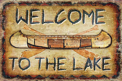 Welcome To The Lake Poster by JQ Licensing