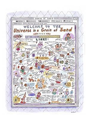 'welcome To The Universe In A Grain Of Sand' Poster