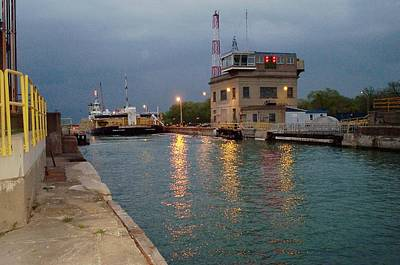 Poster featuring the photograph Welland Canal Locks by Barbara McDevitt