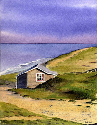 Wellfleet Cottage Poster by Heidi Gallo