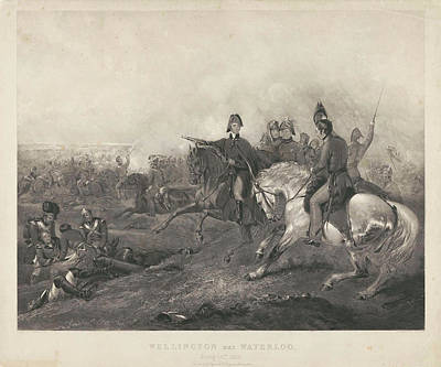 Wellington At The Battle Of Waterloo, 1815 Poster