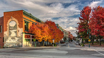 Wellington Street In Autumn Poster