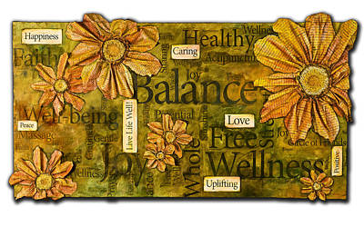 Poster featuring the painting Wellness by Lisa Fiedler Jaworski