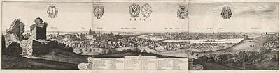 Wenceslaus Hollar, The Great View Of Prague Poster by Litz Collection