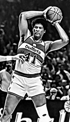 Wes Unseld Poster by Florian Rodarte