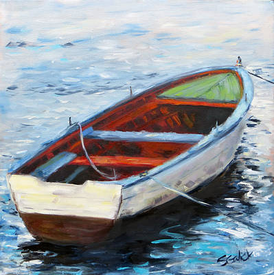 West Coast Row Boat Poster by Susan Galick