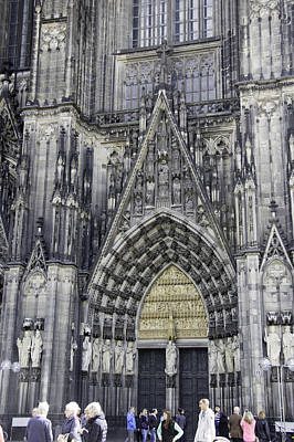 West Entrance Door Cologne Cathedral Poster by Teresa Mucha