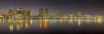 West Palm Beach Skyline Poster by Debra and Dave Vanderlaan