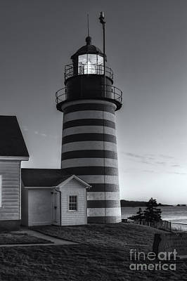 West Quoddy Head Light At Dawn II Poster by Clarence Holmes