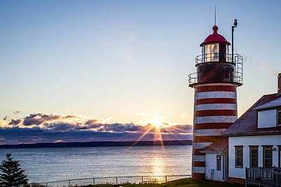 West Quoddy Head Lighthouse Sunrise  Poster by Trace Kittrell