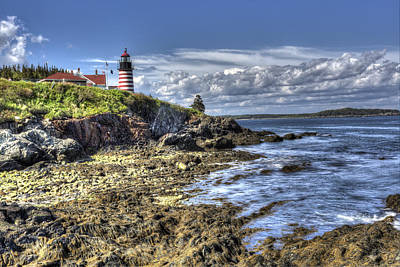West Quoddy Lubec Maine Lighthouse Poster by Shawn Everhart