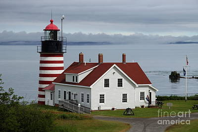 West Quody Head Light  Poster by Christiane Schulze Art And Photography