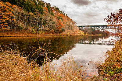 Poster featuring the photograph West River At Interstate 91 by Jeremy Farnsworth