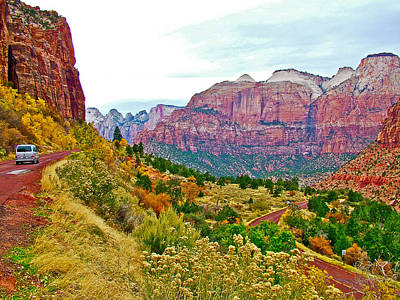 West Side Of Zion-mount Carmel Highway From Zion National Park-utah Poster