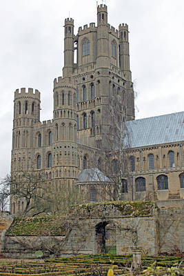 West Tower Of Ely Cathedral  Poster