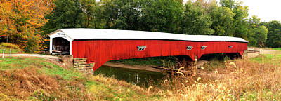 West Union Covered Bridge, Montezuma Poster