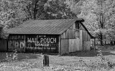 West Virginia Barn Monchrome Poster by Steve Harrington