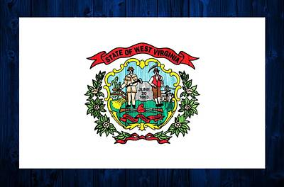 West Virginia Flag Barn Door Poster