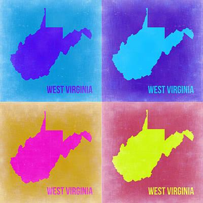 West Virginia Pop Art Map 2 Poster by Naxart Studio