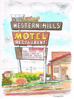 Western Hills Motel In Route 66 Flagstaff - Arizona Poster