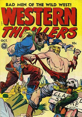 Western Thrillers Poster by Studio Artist